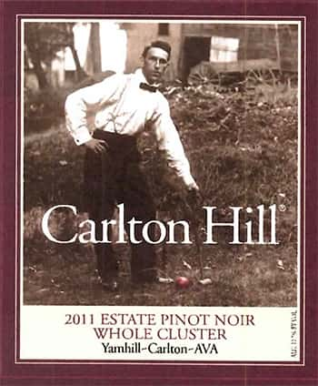 Carlton Hill Whole Cluster Pinot Noir 2011